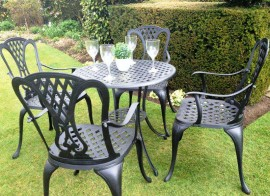 4 Seat Cast Aluminium Garden Furniture Sets