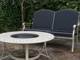 Two seater firepit set