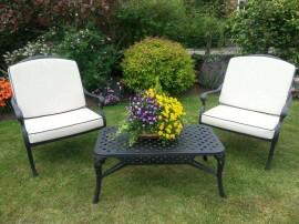 Cast Aluminium Garden furniture lounge and sofa sets